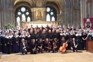 Koorreis Engeland -Groepsfoto All Saints Church-Maidstone